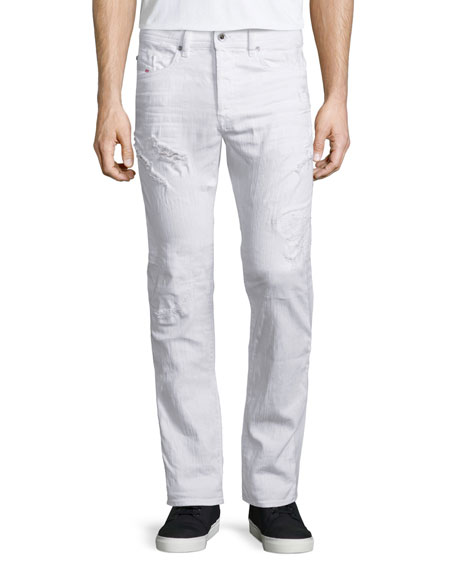 Diesel Buster Distressed Denim Jeans, White