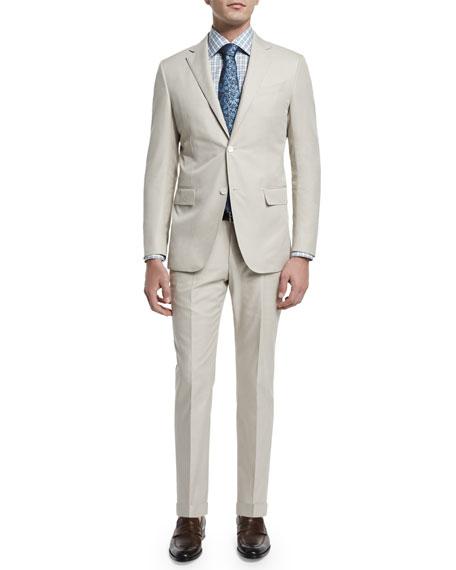 Two-Piece Cotton Suit, Beige