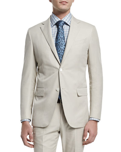 Two-Piece Cotton Suit, Beige