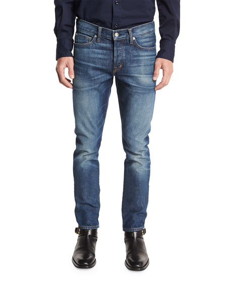 TOM FORD Slim-Fit High Low Selvedge Denim Jeans,