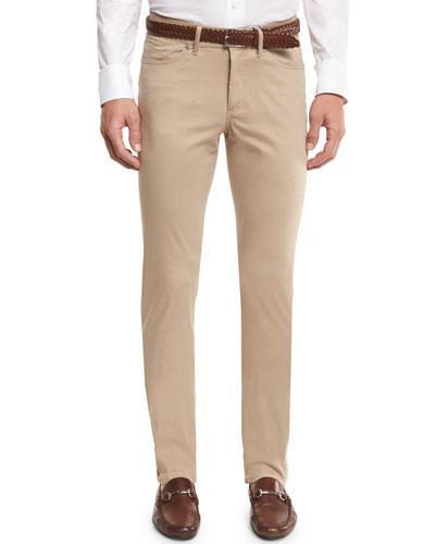 Collection Perfect Poplin 5-Pocket Pants, Sandalwood
