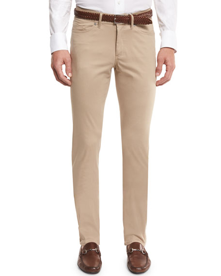 Peter Millar Collection Perfect Poplin 5-Pocket Pants, Sandalwood