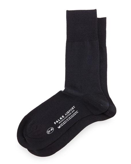 Airport Wool-Blend Socks