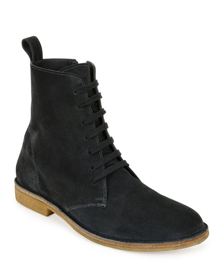 Bottega Veneta Men's Suede Lace-Up Boots