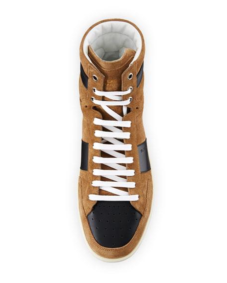Colorblock Suede High-Top Sneaker
