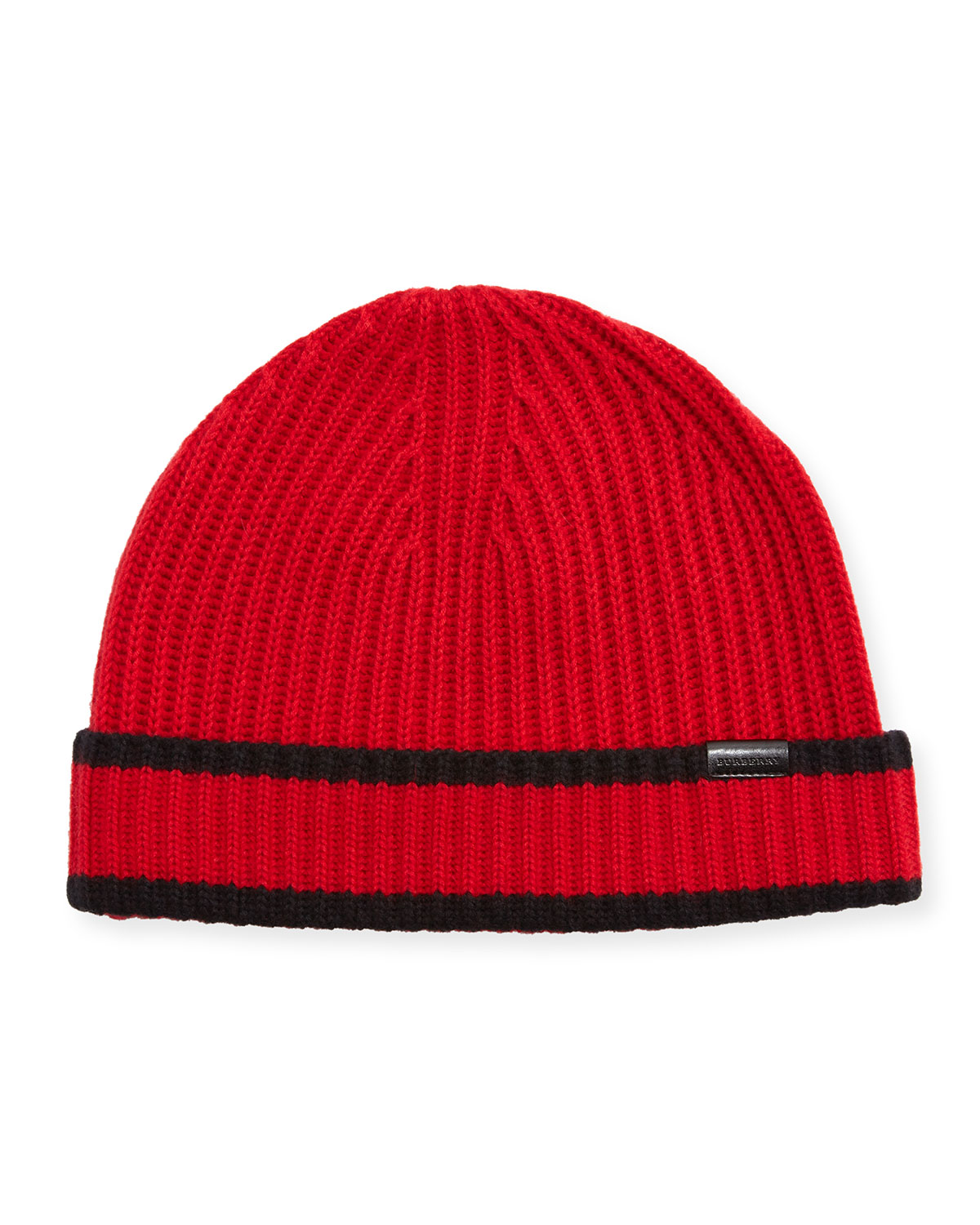435dc6c5a7f Burberry Men s Ribbed Cashmere Beanie Hat
