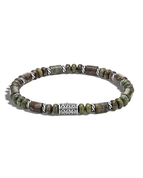 John Hardy Men's Batu Dragon Blood Jasper Bracelet