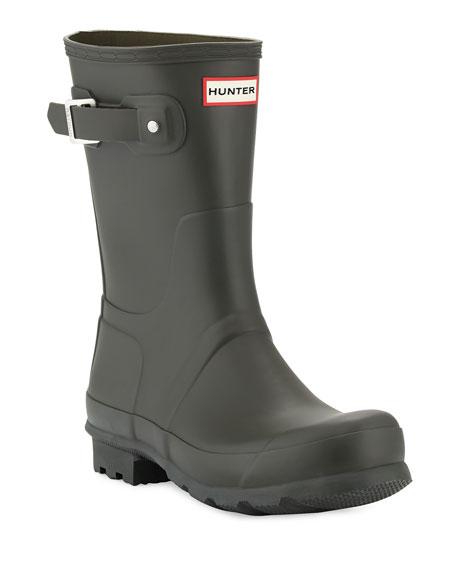 Hunter Boot Men's Original Short Boots, Dark Olive