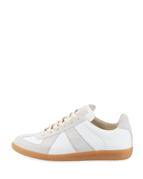 Men's Replica Leather & Suede Low-Top Sneakers