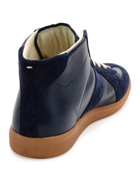 Men's Replica Mid-Top Leather & Suede Sneakers