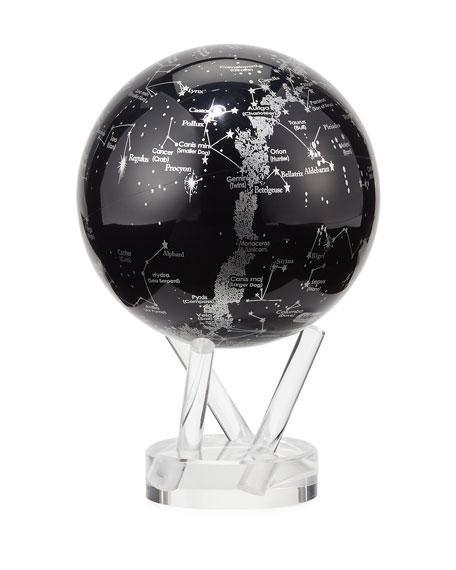 Mova Globe MOVA® Space Constellations Globe, Black/Silver