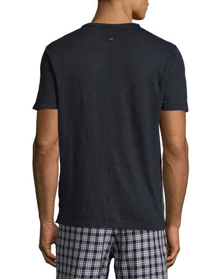 Men's Owen Heather Linen Pocket T-Shirt