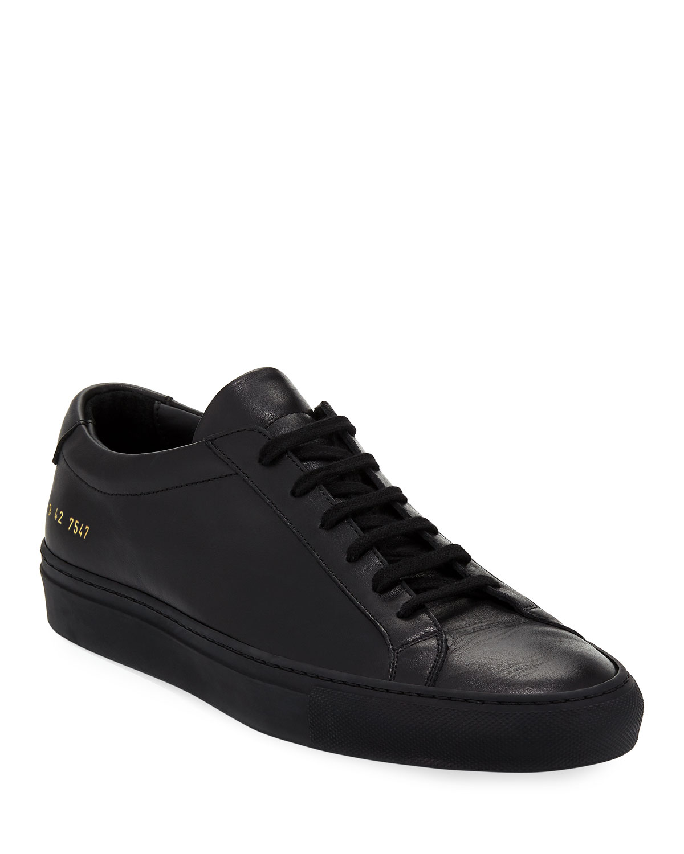 Common Projects Men S Achilles Low Top Sneakers Black