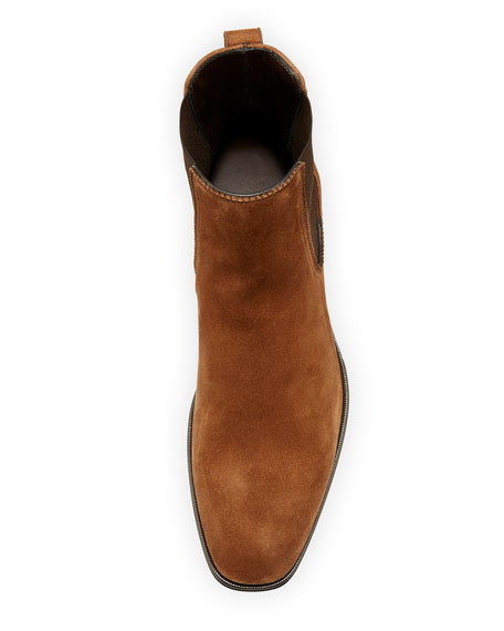 Suede Chelsea Boot, Brown