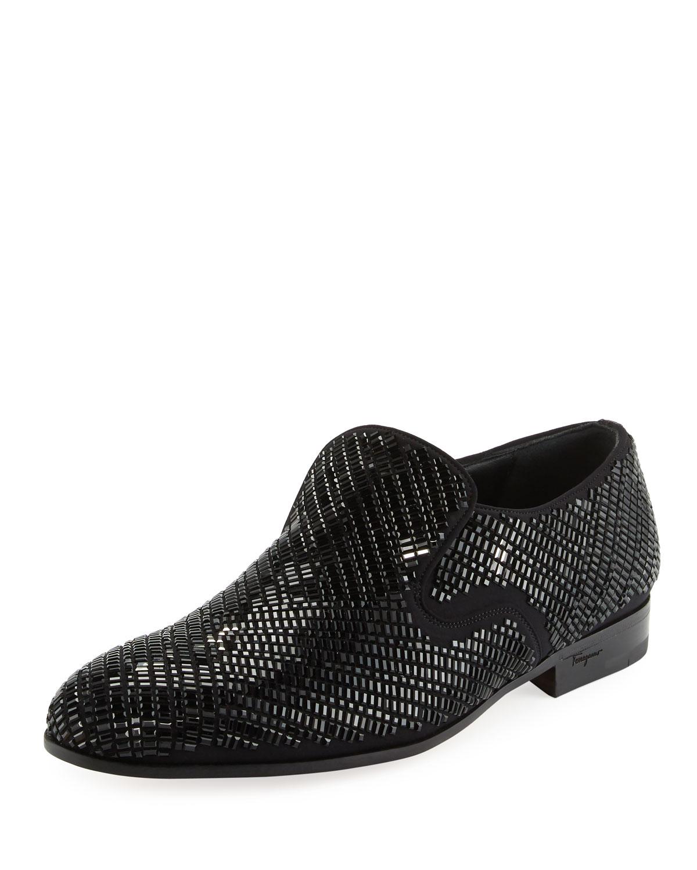 9c78d080015 Salvatore Ferragamo Men s Crystal-Studded Formal Loafer