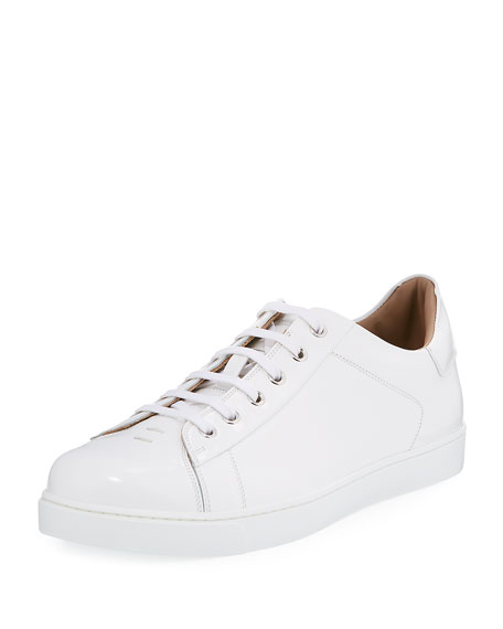 Gianvito RossiLeather Lace-Up Low Top Sneakers vPTBsm4G