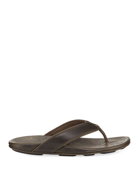 Olukai Waimea Leather Thong Sandals
