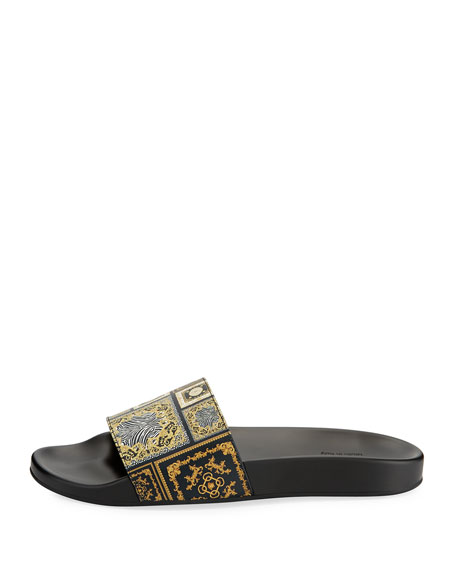 Men's Baroque Tile Signature Slide Sandal