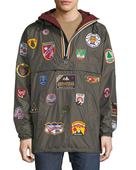 Dsquared2 x K-Way?? Nylon Packable Jacket with Patches