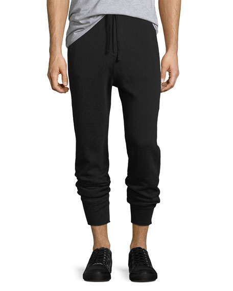 Vince Seamed Pima Cotton Jogger Pants and Matching