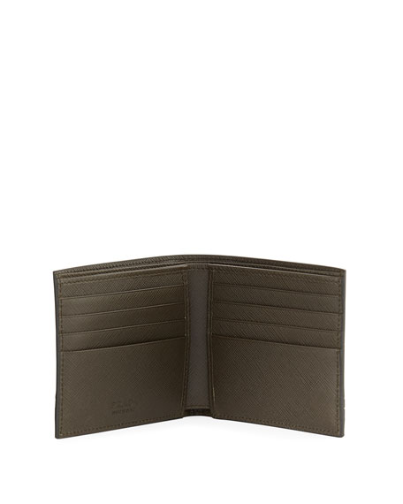Saffiano Greche Leather Wallet