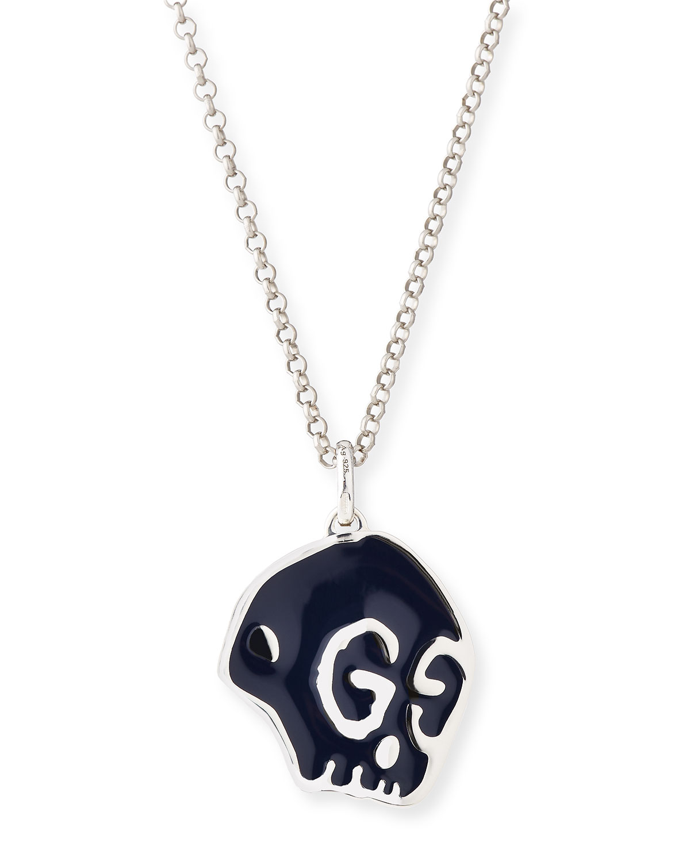 08400a84f67 Gucci GucciGhost Men s Sterling Silver Skull Necklace