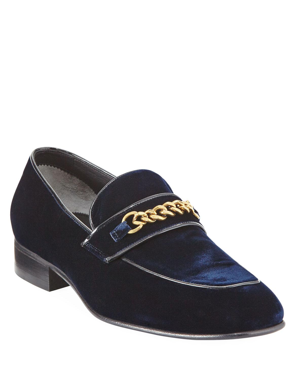 7431bcf9915 TOM FORD Velvet Chain-Link Loafer