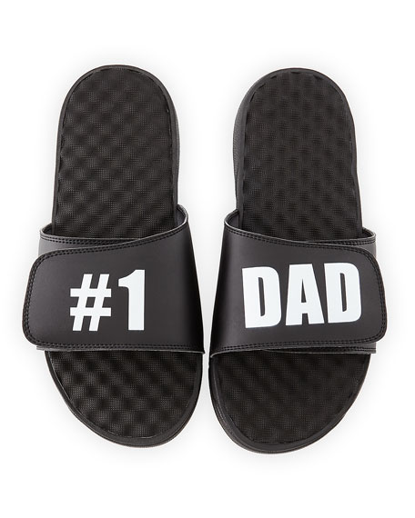 Image 1 of 5: Men's #1 Dad Slide Sandals, Black