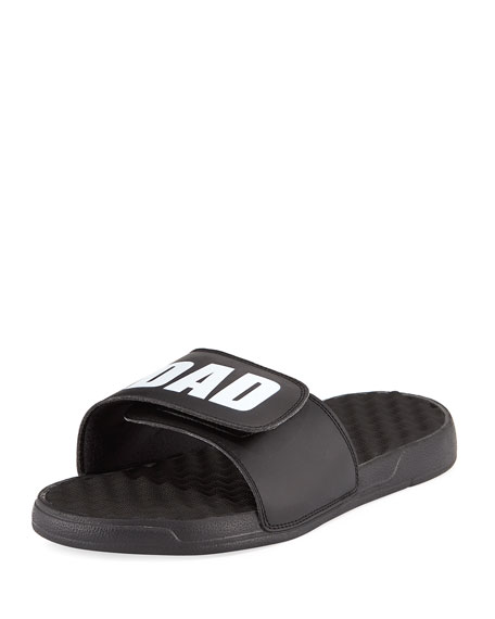 Image 3 of 5: Men's #1 Dad Slide Sandals, Black