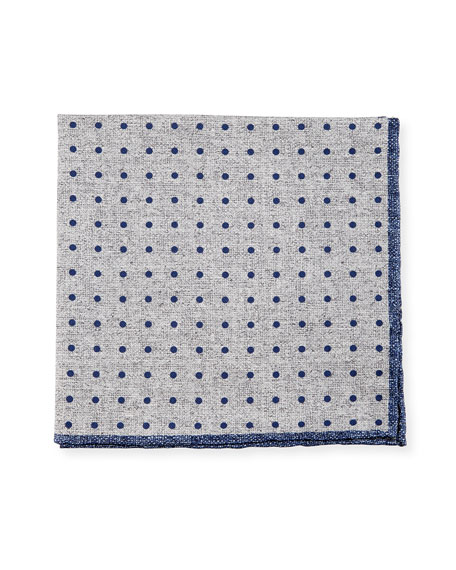 Reversible Silk-Cotton Pocket Square