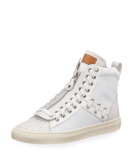 Bally Men's Hekem Patchwork High-Top Sneakers