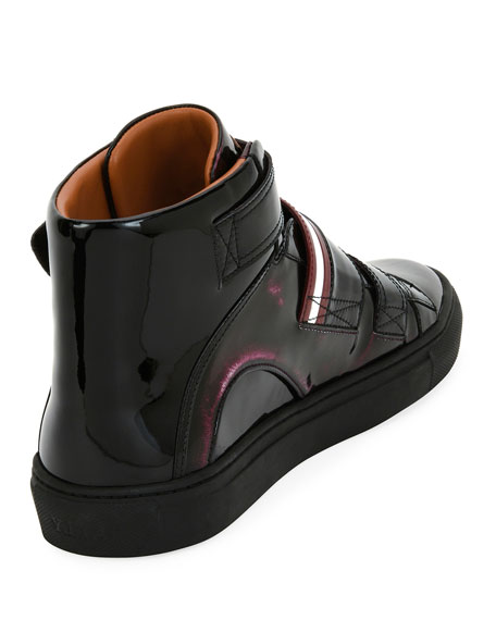 Herrick Metallic Patent Leather High-Top Sneaker