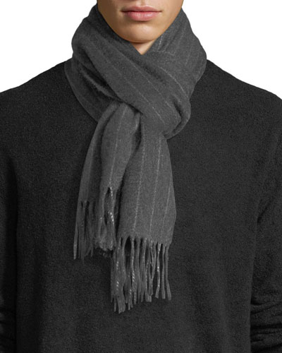 CASHMERE PINSTRIPE SCARF WIT
