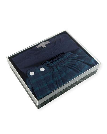 Two-Piece Plaid Pajama Gift Set