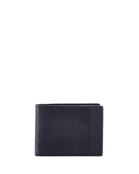Salvatore Ferragamo Men's Firenze Gamma Bi-Fold Card Case