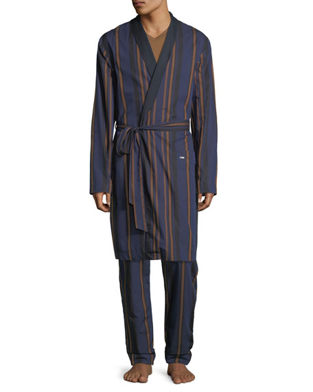 Hanro Striped Woven Robe