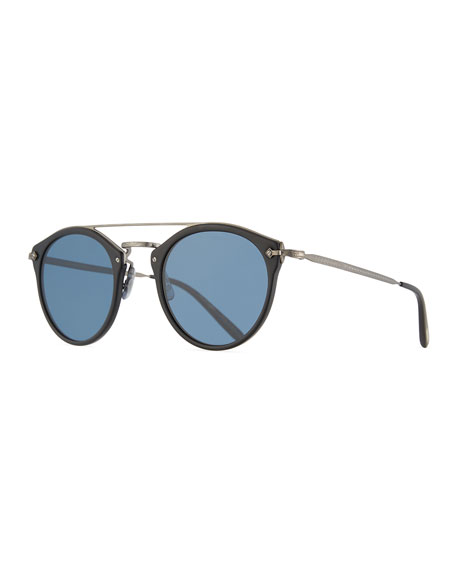 Remick Vintage Brow-Bar Sunglasses