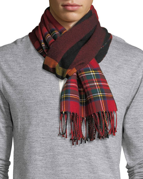 Men's Vintage Check to Check Scarf