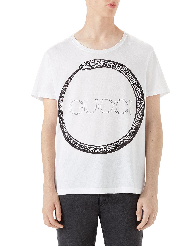 3b925514bcb Gucci Ouroboros-Print T-Shirt