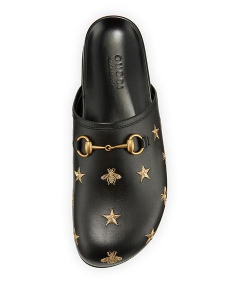 Horsebit Embroidered Leather Slipper