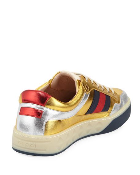 Metallic Leather Sneaker