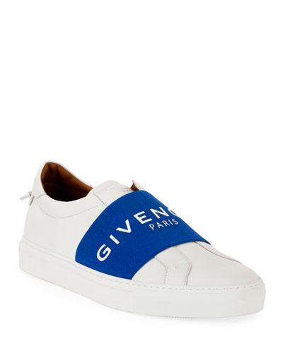Men's Urban Street Elastic Slip-On Sneakers  White/Black