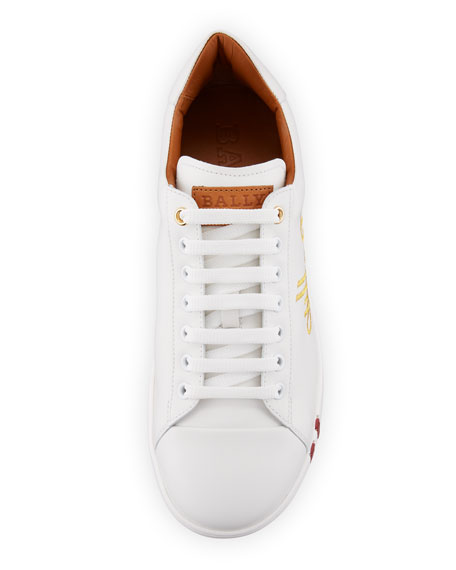Image 2 of 3: Men's Winston Logo-Embroidered Low-Top Sneakers