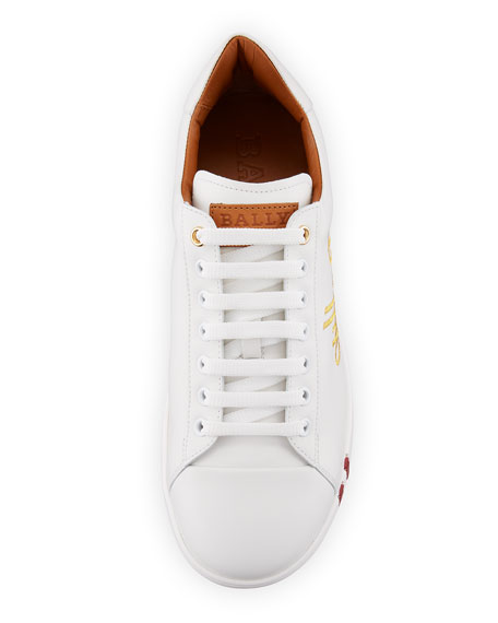 Image 3 of 3: Men's Winston Logo-Embroidered Low-Top Sneakers