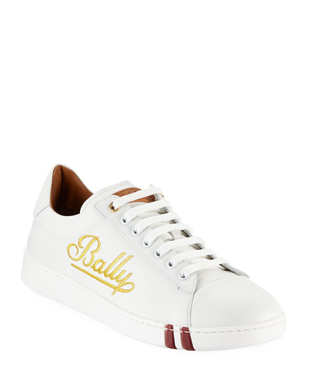 Image 1 of 3: Men's Winston Logo-Embroidered Low-Top Sneakers