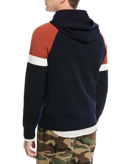 Colorblock Pullover Sweatshirt w/ Hood