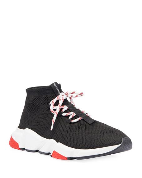 Balenciaga Men's Speed Lace-Up Mesh Sneakers