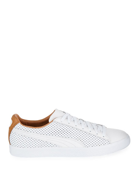 Puma Men's Clyde Perforated Leather Creeper Sneakers