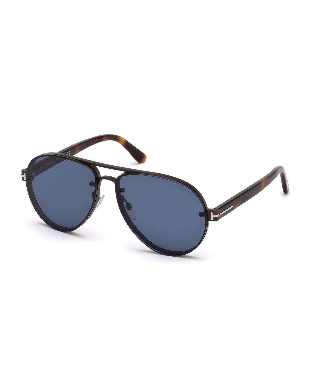 97392162de TOM FORD Alexei Metal Aviator Sunglasses