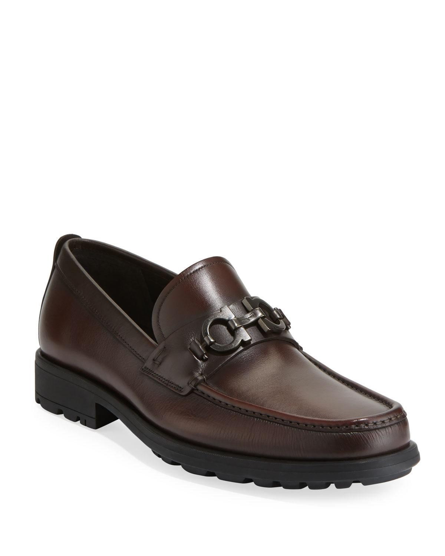 a335e676815 Salvatore Ferragamo Men s David Leather Lug-Sole Loafer